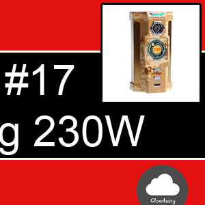 Snowwolf Vfeng 230W : BoxMod à wattage variable au look mécanique