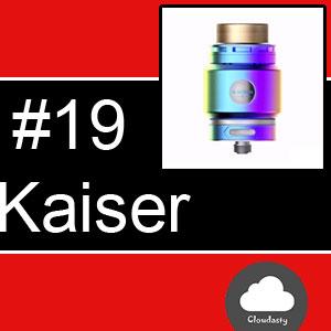 Smokjoy Fat Kaiser RTA : Atomiseur de 3 ml de capacité et deux airflows
